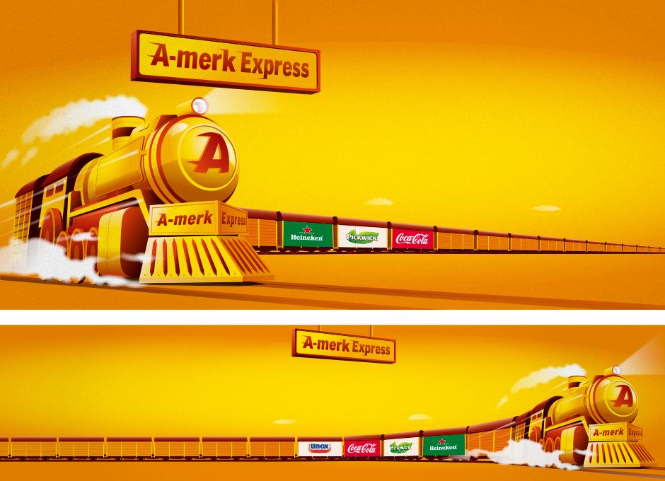 Voor Albert Heijn heb ik illustraties gemaakt voor de A-merk Express campagne.